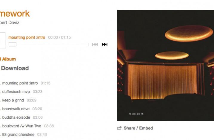 """Kostenloser Album Download """"framework"""" von Hubert Daviz auf bandcamp"""