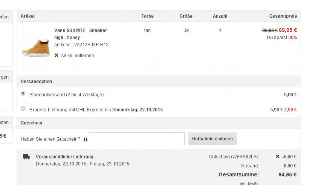 Vans SK8 MTE Sneaker high honey bei zalando für 64,95 EUR