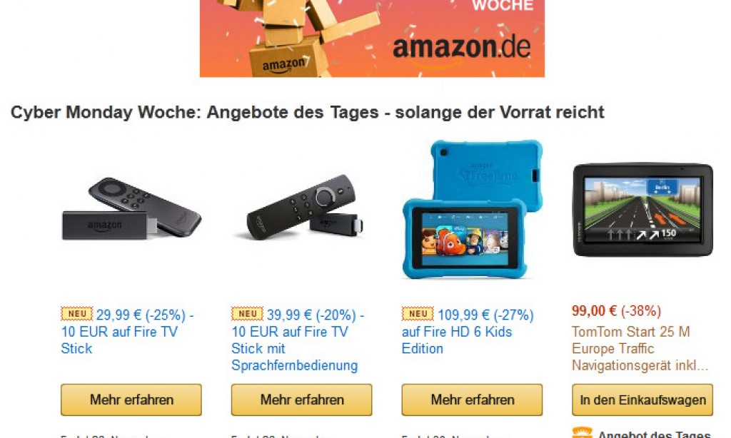 Black Friday Deals und Blitzangebote am 27.11.2015