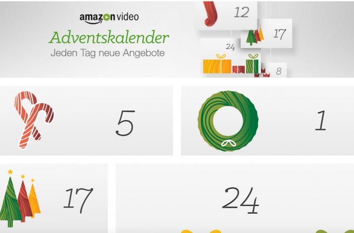 Der amazon Video Adventskalender mit täglich neuen Angeboten