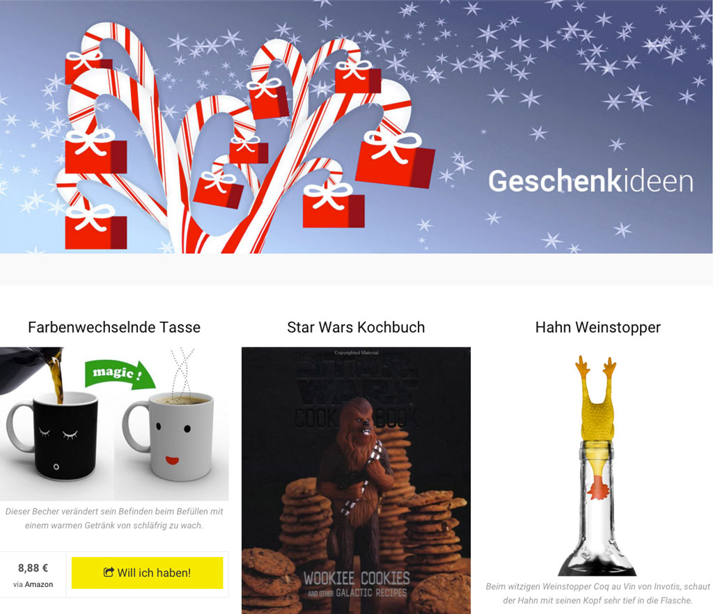 geschenkideen zu weihnachten schn ppchenfieber. Black Bedroom Furniture Sets. Home Design Ideas