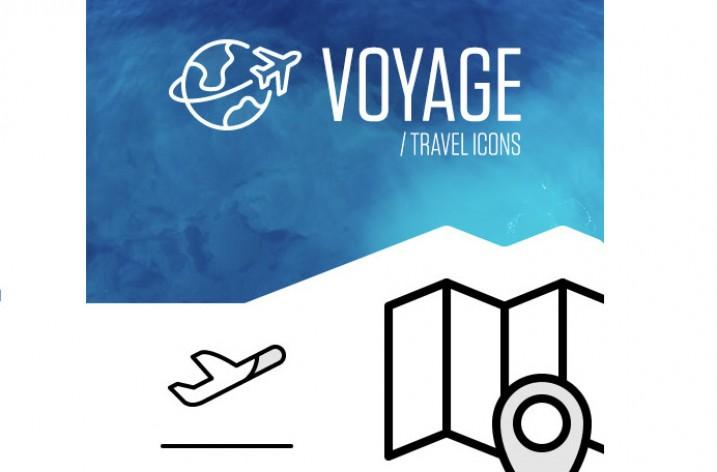 Freebie: Reise Icon Set (private und kommerzielle Nutzung)