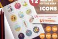 12-teiliges Jahreszeit Icon-Set kostenlos [persönliche und kommerzielle Nutzung]